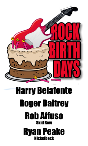 Rock Birthdays – March 1