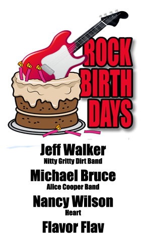 Rock Birthdays – March 16