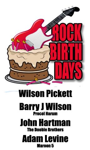Rock Birthdays – March 18