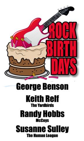 Rock Birthdays – March 22