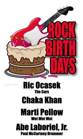Rock Birthdays – March 23