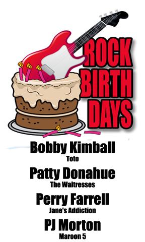 Rock Birthdays: March 29