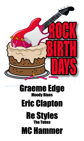 Rock Birthdays: March 30