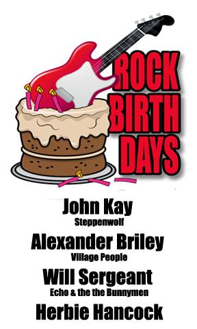 Rock Birthdays: April 12