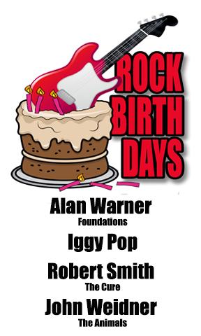 Rock Birthdays: April 21