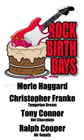 Rock Birthdays: April 6