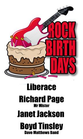 Rock Birthdays – May 16