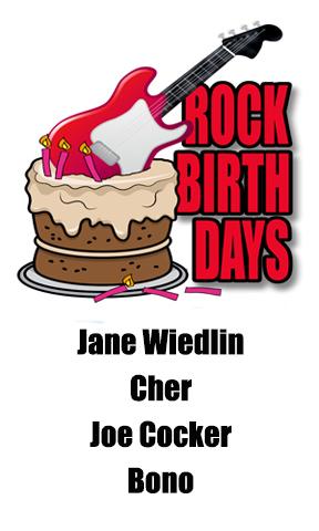 Rock Birthdays – May 20