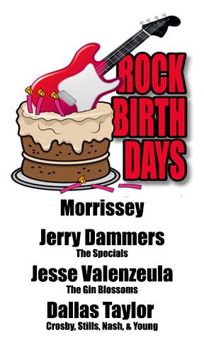 Rock Birthdays – May 22