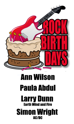 Rock Birthdays – June 19
