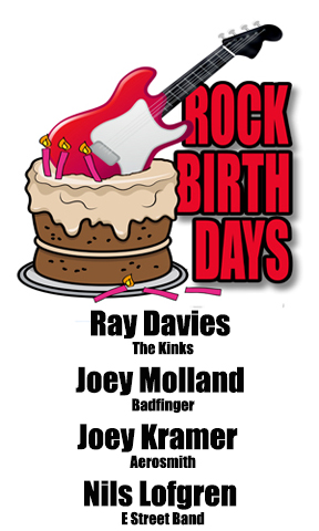 Rock Birthdays – June 21