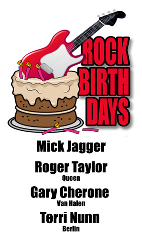 Rock Birthdays – July 26