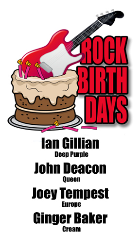 Rock Birthdays – August 19