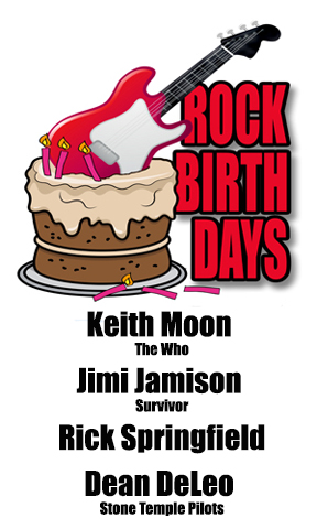 Rock Birthdays – August 23
