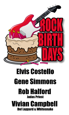 Rock Birthdays – August 25
