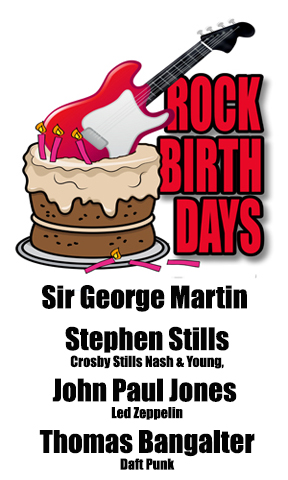 Rock Birthdays – January 3