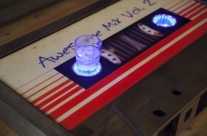 Retro cassette table