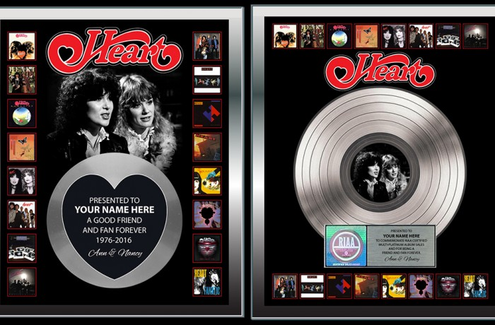 Heart 40th anniversary plaques