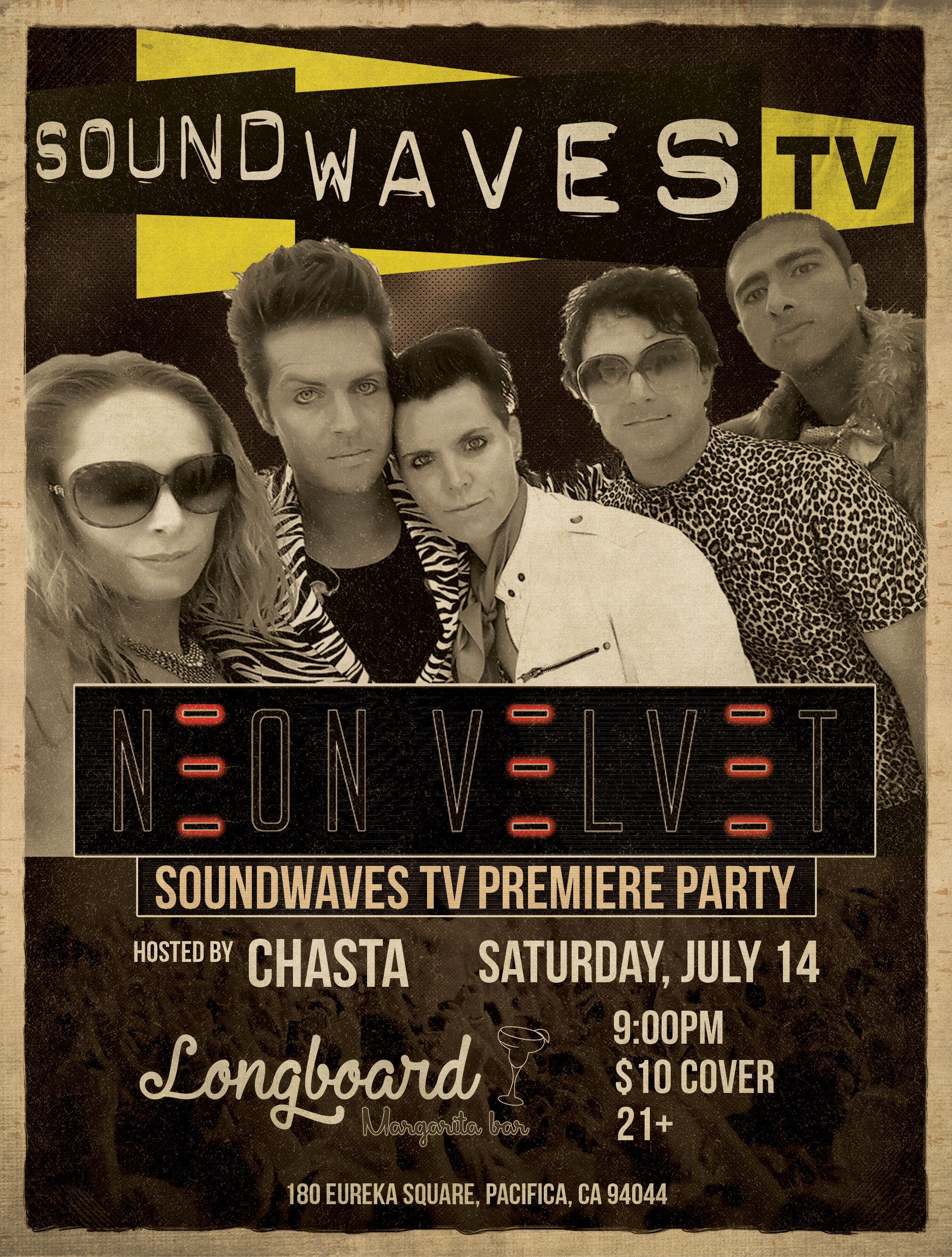 You're Invited: Soundwaves TV Premiere Party with Neon Velvet