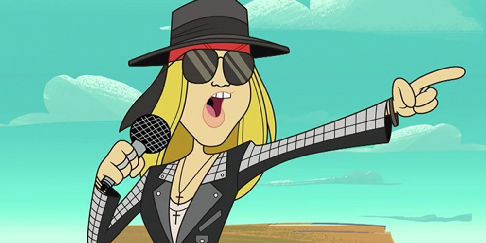 "Watch Guns N' Roses frontman Axl Rose bring down an asteroid alongside Bugs Bunny with a song called ""Rock The Rock."""
