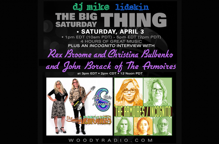 DJ Mike Show #204 – 4/3/2021: Interview with Christina Bulbenko, Rex Broome, and John Borack of The Armoires!