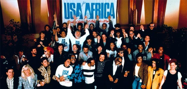 """USA for Africa's """"We Are the World"""" and the history of the Charity Single"""