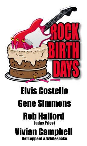 Rock Birthdays – August 25