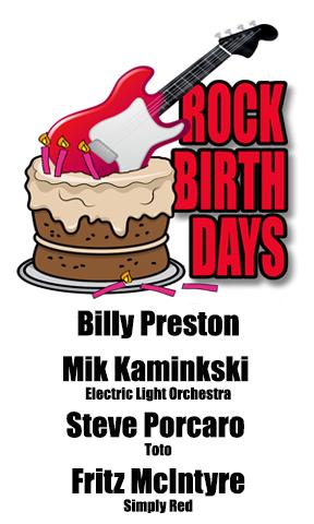 Rock Birthdays – September 2