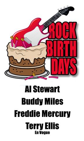Rock Birthdays – September 5
