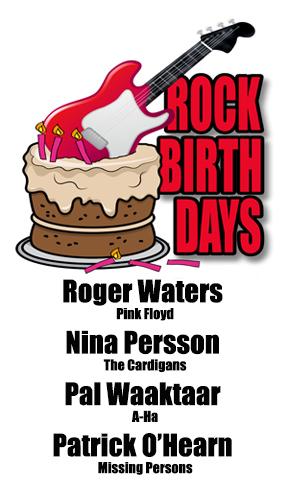 Rock Birthdays – September 6