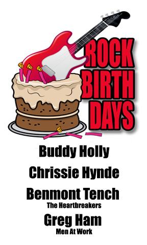 Rock Birthdays – September 7