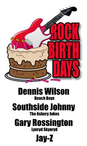 Rock Birthday – December 4