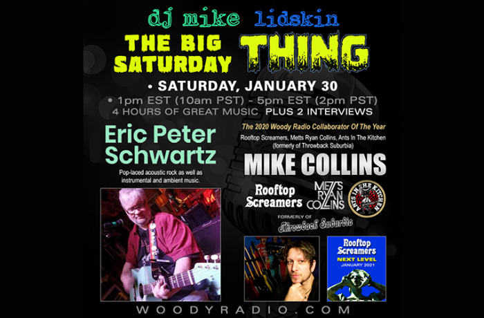 DJ Mike Show #186 1/30/2021: Interviews with Eric Peter Schwartz and Mike Collins!